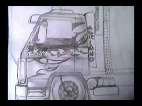 desenho de caminhão ao som do dj wagner
