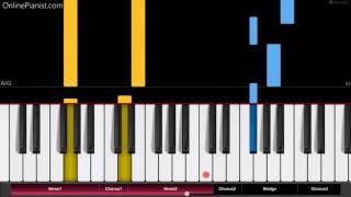 Bruno Mars - Versace on the Floor - EASY Piano Tutorial - How to play Versace on the Floor on piano