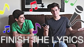 FINISH THE LYRICS CHALLENGE with my brother (English with subtitles)