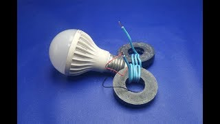 Wow Free energy electricity light bulbs generator - DIY projects  2018