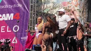 Blac Chyna Twerks to Rake it Up at Amber Rose Slutwalk 2017