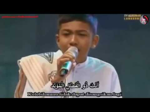 Merdunya 'Lau Kana Bainana' Adik Munir (If The Beloved Rasulullah Were Among Us) - لو كان بيننا