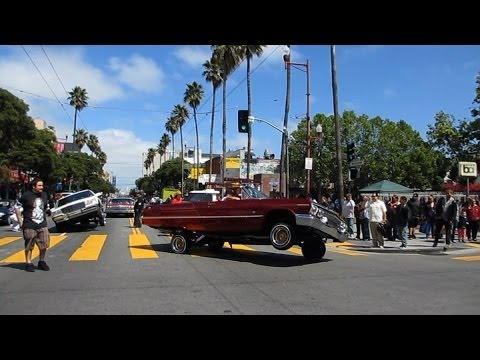 Lowrider Cars Cesar Chavez Holiday Parade 2014 Mission District San Francisco California