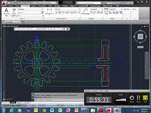 Desarrollo de un engranaje en AutoCAD