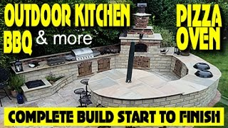 HOW TO BUILD AN OUTDOOR KITCHEN, BBQ, PIZZA OVEN, 14 DAY FULL BUILD