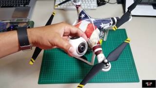 DIY DJI Phantom mounting for Samsung Gear 360 camera