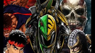Green Ranger and Scorpion vs Ryu and White Ranger