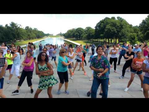 Lincoln Memorial Washington D.C. Marriage Proposal Flash Mob