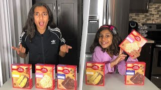 Twin Telepathy Cake Challenge!! Kids fun video