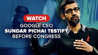 Watch Google CEO Sundar Pichai testify before Congress