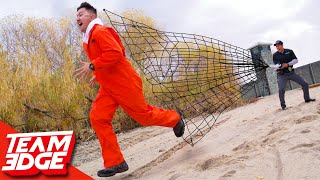 Capture the Prisoner on the Run!!   High Powered Net Gun!
