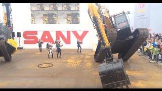 Sany  Excavators In Amazing Show - Bauma 2016