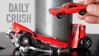 Crushing DODGE CHARGER Hotwheels Car with Hydraulic Press | Daily Crush