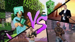 MINECRAFT vs. GTA V ♫