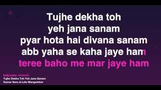 Tujhe Dekha Toh Yeh Jana Sanam (Karaoke)