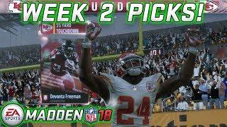 WEEK 2 NFL PICKS! MADDEN NFL 18 MUT SQUADS GAMEPLAY!