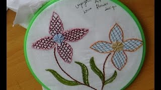 Hand Embroidery Designs # 168 - Wine flower designs