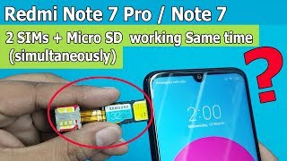 Dual Sim & SD Card Simultaneously on Redmi Note 7 / Note 7 Pro Working or NOT