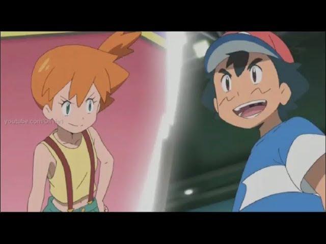 Pokemon Sun and Moon - Misty's Mega Gyarados vs Ash's Pikachu [Full HD] English Subs!