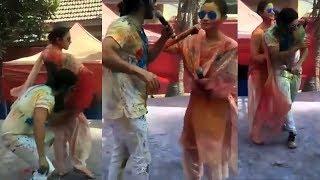 Alia+and+Varun+Bollywood+Holi+Party+2018