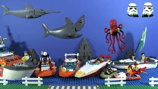 LEGO City Coast Guard ALL Vehicles Stop Motion