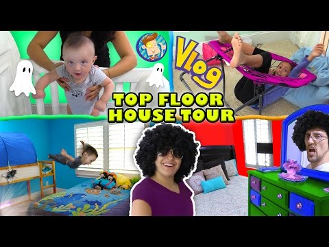 HOUSE TOUR 1.0 The Top Floor w Lexi Shawn Chase Mom & Dad Rooms FUNnel Vision Vlog