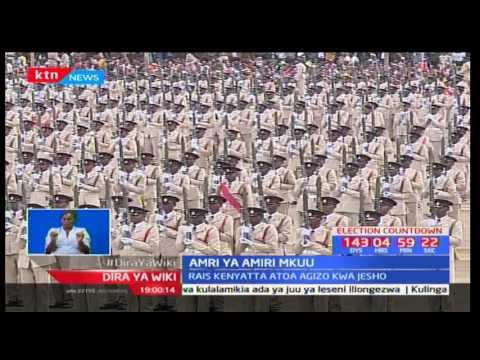 Rais Uhuru Kenyatta ametoa amri kupelekwa kwa maafisa wa jeshi kama maradhi ya utovu wa usalama