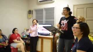 Aunty Christine sharing in Homes (The other Christine translates) - 6thDec2013