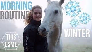Winter Stable Morning Routine | This Esme