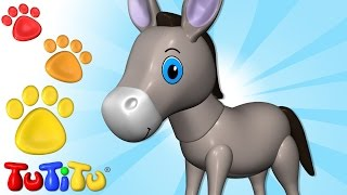 TuTiTu Animals | Animal Toys for Children | Donkey and Friends