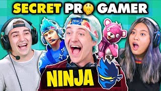 Ninja DESTROYS Fortnite Players (Secret Pro Gamer) | React