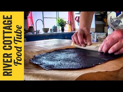 Apple & Blackberry Fruit Leather Roll | Pam The Jam Corbin