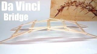 Leonardo da Vinci Popsicle Stick Bridge model