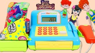 Hotel Transylvania 3 Characters Go Shopping with Pretend Toy Cash Register!
