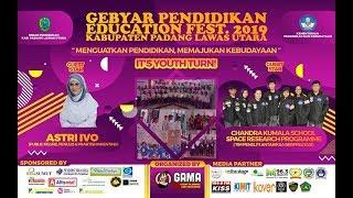 PENAMPILAN TARIAN L GEBYAR PENDIDIKAN FESTIVAL EDUCATION FEST 2019 KAB. PADANG LAWAS UTARA