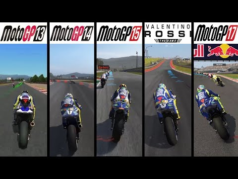 MotoGP 13 vs MotoGP 14 vs MotoGP 15 vs Valentino Rossi: The Game vs MotoGP 17 - Gameplay Comparasion