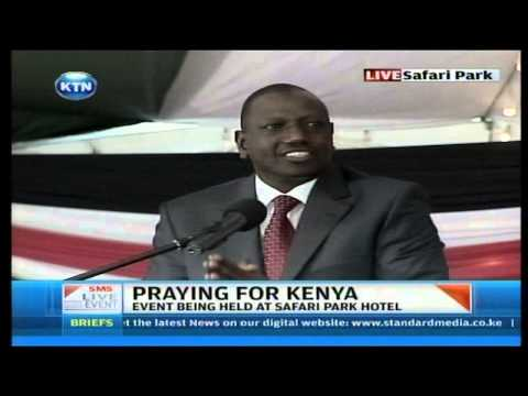 William Ruto s funny moments at National prayer day about Nyayo Office