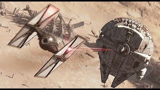 Star Wars The Force Awakens Millenium Falcon Scene HD