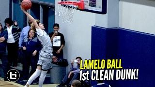 LaMelo Ball Dunks It in Warmups! First Legit Dunk!
