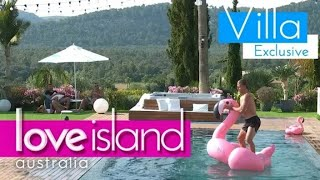 Jaxon shows off flamingo balancing skills | Love Island Australia (2018) HD