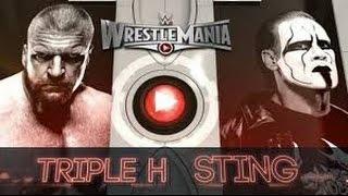 Triple H vs Sting l WrestleMania 31 l Combates WWE
