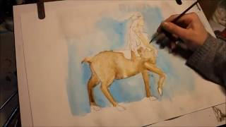 Centaur Lady (try 2)  Speed Painting By Heather Claughan
