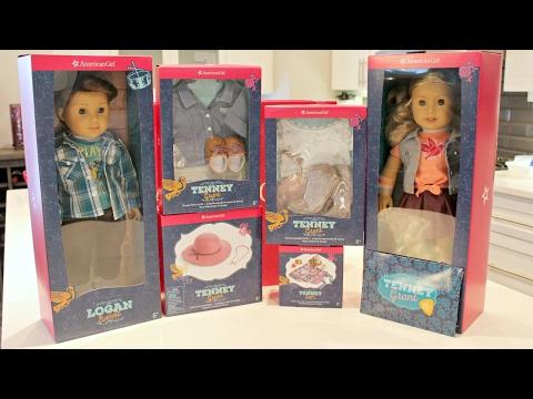 Opening American Girl Doll Tenney & Logan HUGE HAUL   BOY DOLL