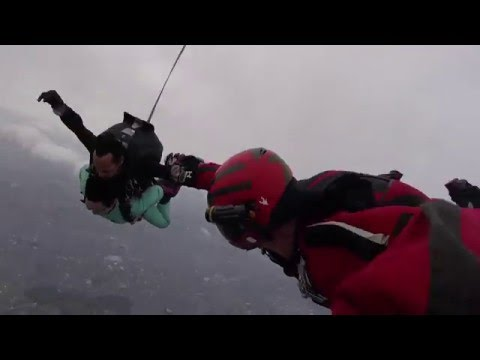 Illegal Skydiving at TSC in Japan.  Tandem master = unconscious!