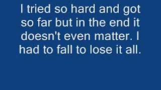 Linkin Park-In The End Lyrics