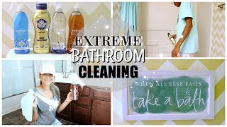 EXTREME BATHROOM CLEANING 2017 | MOM & TEEN SON EDITION