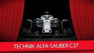 Formel 1 Autos 2018: Der neue Alfa Romeo Sauber C37 (Technik-Check)