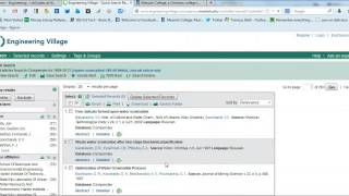 Accessing Full Text Articles in Engineering Village