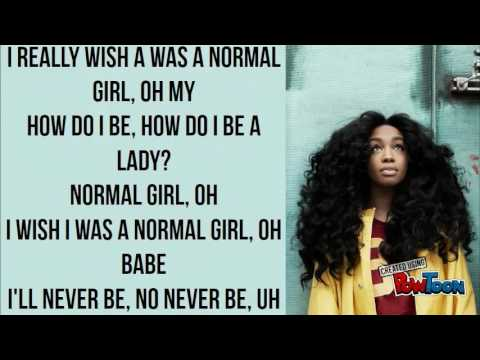 SZA - Normal Girl (Lyrics)