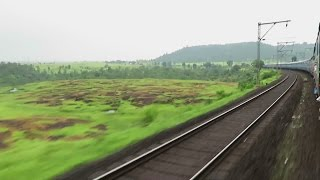 Awesome Train Ride in Monsoon : SPECIAL COVERAGE : Onboard Tapovan Express : INDIAN RAILWAYS